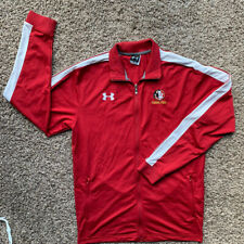 New listing Men's Red Under Armour Florida State University Full Zip Light Jacket Size M