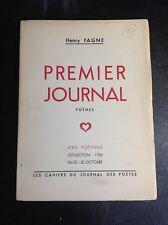 Poésie - Fagne Henry - Premier Journal - Poèmes - 1936 - B27
