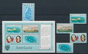 LN71240 St Lucia explorer navigation ships fine lot MNH