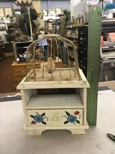Vintage, Jewelry Box, Music, Bird, Cage, Creepy, Unique
