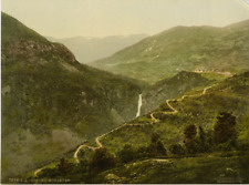 Hardanger Fjord. Stalheimskleven. PZ vintage photochromie, photochromie, vinta
