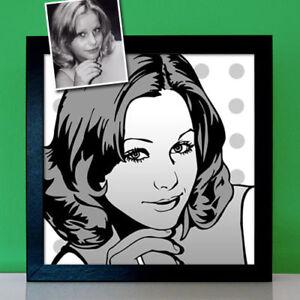 Personalisierte Geschenke für Frauen Pop Art Portrait nach Foto malen lassen