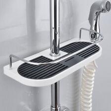 Home Tray Holder Bathroom Pole Shelf Shower Bath Storage Caddy Rack Organiser