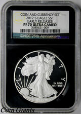 2012-S Silver Eagle Set NGC PF 70 U CAM Coin & Currency Set Early Releases RETRO