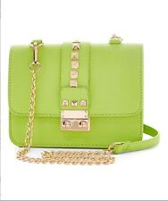 NWT BCBG Paris Apple Green Stud Caviar Crossbody Bag Purse $148