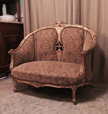 New listing Antique French Provincial Louis Xv Rococo Style Ornately Carved Settee Sofa Gold
