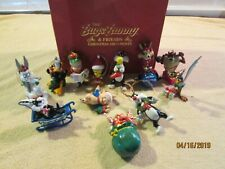 The Bugs Bunny & Friends Christmas Ornaments Danbury Mint 1990 Set of 12