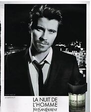 Publicité Advertising 2013 Parfum La Nuit de L'Homme Yves Saint laurent  Hedlund