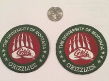 """(2)-University Of Montana Grizzlies Embroidered On Patches 3""""x 3"""""""