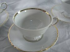 Royal Kent Poland Footed Cup & Saucer  RKT17 white with gold trim