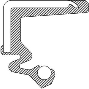 Axle Intermediate Shaft Seal National 710479