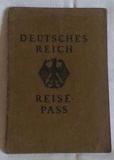 Reisepass Deutsches Reich von 1925, Rarität, sehr guter Zustand