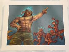 Original Painting - Collectible Card Game Ophidian 2350 Fleer Goth Garal 2 Art