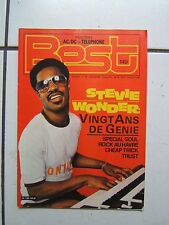 Magazine BEST n° 149  - dec 1980  couv stevie wonder  poster ac dc  telephone