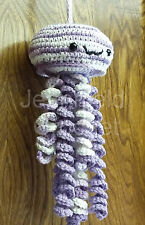 Handmade Crochet Jellyfish Decoration / Toy / Photo Prop - Pansy & Fresh Lilac