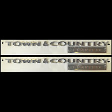 2 New Town & Country Limited Door Liftgate Logo Emblem Decal Badge Nameplate