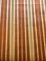 """Gold Copper Brown Striped Satin Ribbon 54"""" Wide Upholstery Fabric 3 1/3 Yd Yards"""