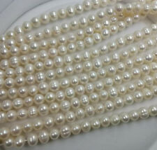 wholesale 10 strands genuine freshwater pearl strings 7-8mm loose beads