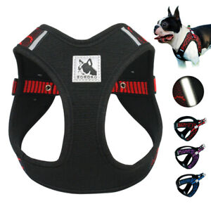 Step-in Dog Harness Vest Reflective Mesh Padded for French Bulldog Beagle Pug