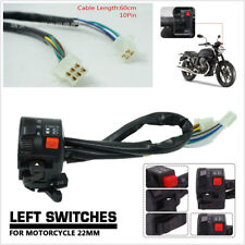 "7/8"" 22mm 10Pin Motorcycle Handlebar Start Stop Headlight Hi/Low Throttle Switch"