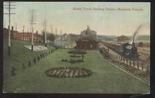 Postcard HAMILTON Ontario/CANADA  Grand Trunk Railroad Train Depot Station 1907
