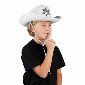 """Weißer Kinder-Hut """"Cowboy"""""""