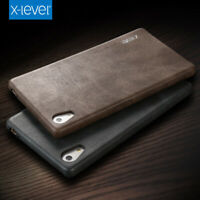 Genuine X-Level Vintage Leather Slim Back Case Cover For Sony Xperia XA2 XZ3 10+