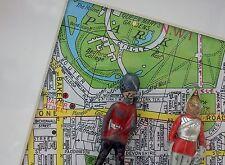 SOLDAT-Vintage Shabby Chic encadrée lead toy soldiers sur carte de Londres