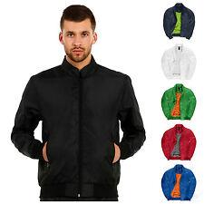 Chaqueta de abrigo para hombre ligero BOMBARDERO S - 3XL 6 Colores Libre PNP con Capucha