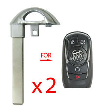New listing New Smart Remote Key Uncut Blade Emergency Insert Replacement for Buick (2 Pack)(Fits: LaCrosse)