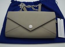 REBECCA MINKOFF Putty Gray Wallet on a Chain Envelope Purse