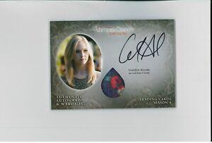 *MINT* Candice Accola Auto COSTUME Swatch Autograph Vampire Diaries ORIGINALS