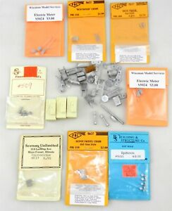 PBL/WISEMAN/B&S Misc Lot Of 40+ S/Sn3 Scale Diecast Detail Parts ~ T123C(E)