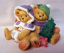 """Enesco Cherished Teddies Cheryl & Carl 1996 """"Wishing. Cozy Christmas"""" #141216"""