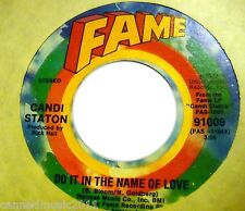 Candi Staton: Do It In the Name of Love / The Thanks I Get...   [new & unplayed]