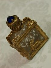 RARE Exquisite Antique Czech VTG. Art Deco Perfume Bottle Gilt Czechoslovakia?