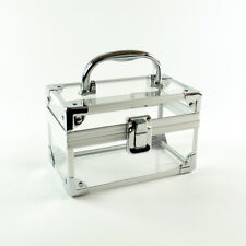Clarins Clear White Makeup / Cosmetic / Jewelry Case - Brand New