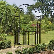 Westminster Metal Garden Arch and Gates - Garden Arches with Gate Way