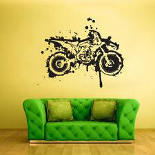 Wall Vinyl Sticker Bedroom Decal Dirt Bike Moto Motorcycle Grunge Decor (Z2008)