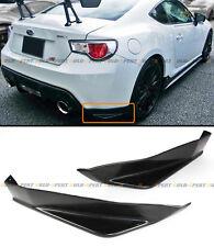 For 2013-16 Subaru BRZ JDM Sti TS Style 2pcs Rear Bumper Add-on Aero Side Aprons