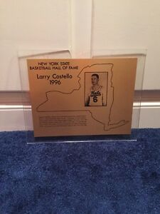 LARRY COSTELLO 1996 NEW YORK STATE BASKETBALL HALL OF FAME AWARD SYRACUSE NATS