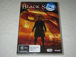 Black Sails - Complete Season 3 - 4 Disc - VGC - Region 4 - DVD