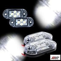 2x Led 24v Front Side White Clear Marker Lamps Lights Truck Lorry Outline
