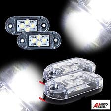 2x 12 V 4 SMD DEL Front Side Marker lumières blanches Remorque Caravane Camion Van Dot