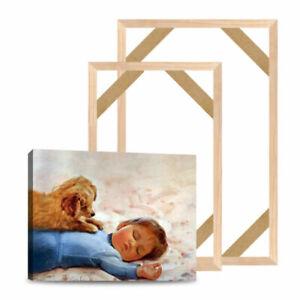Natürliche Holzrahmen Für Leinwand Malerei Wandbild Eingewickelt ART Keilrahmen