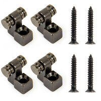 4pcs Roller Style Strat Guitar String Tree Retainers Set Black Guitar Parts