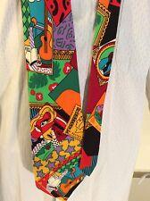 """AZIA COLLECTION, NeckTie 100% Silk, Multi-Color 3.5""""W/58"""" L Made In USA"""