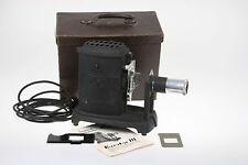 Agfa Karator III, Bildwerfer für Filmbänder und 5x5 Dias mit Anleitung + Koffer