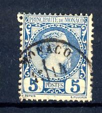 MONACO - 1885 - Effigie di Carlo III° - 5 cent. azzurro