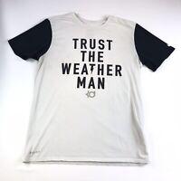 """Nike KD Dri Fit Mens Shirt """"Trust the Weather Man"""" White Black Size Medium #963"""